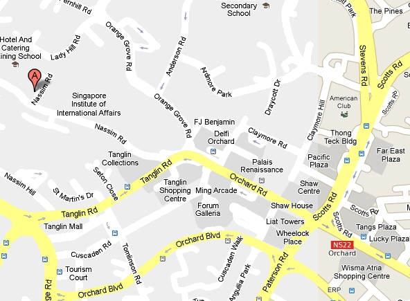 Philippine Embassy at Singapore Map
